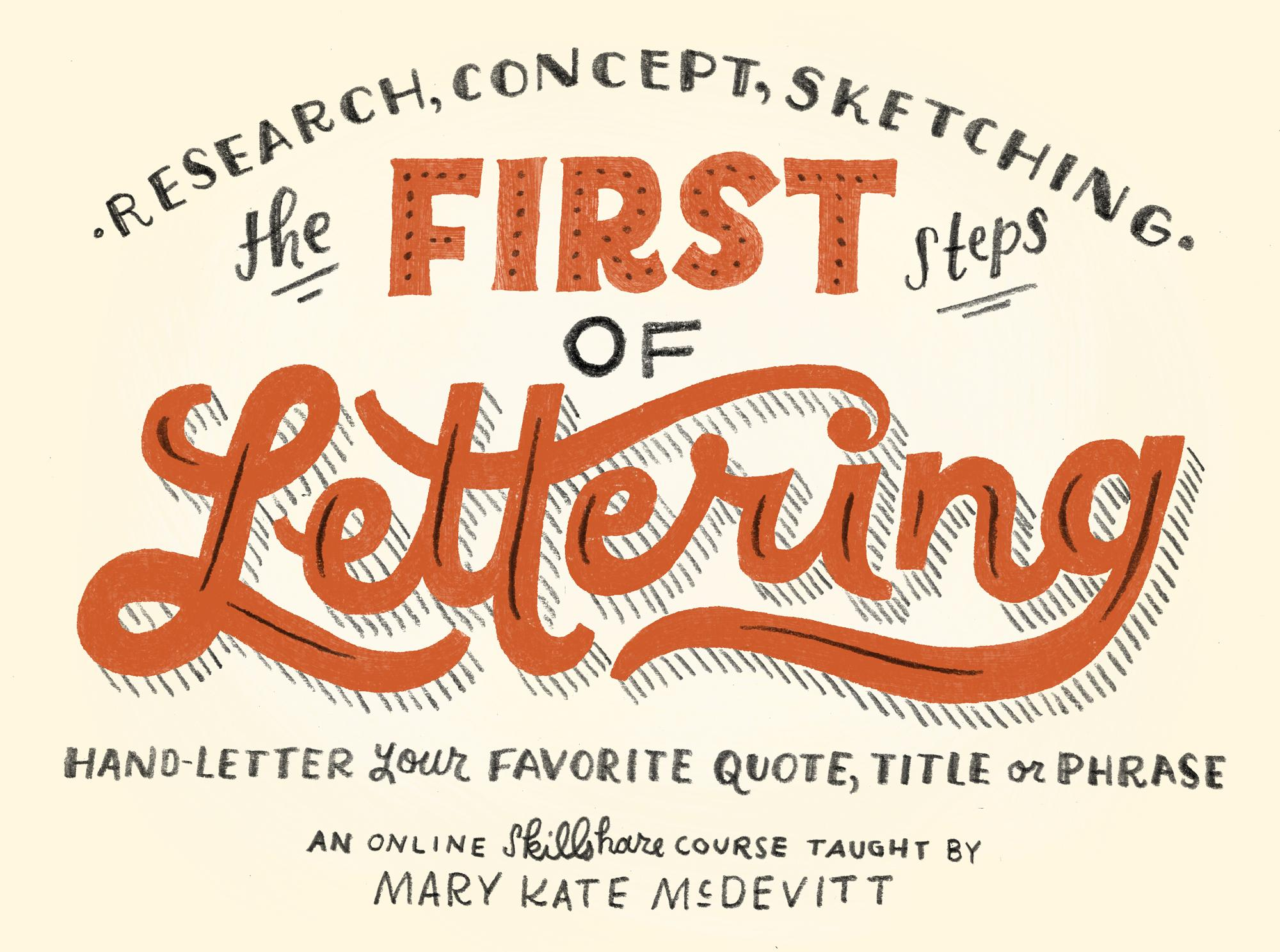 Skillshare - The First Steps of Hand-Lettering: Concept to Sketch